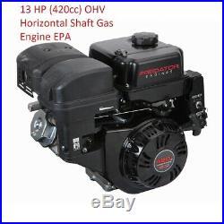 13 HP (420cc) OHV Horizontal Shaft Gas Engine EPA - NEW