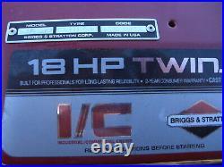 18 HP Twin II Briggs Stratton Engine I/C Vertical Shaft Opposed 422707-1263-01