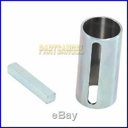 1 to 1-1/8 inch 1/4 Key Gas Engine Pulley Crank Shaft Sleeve Adapter