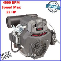 22 HP 670cc V Twin Horizontal Shaft Gas Engine Replacement For Mowers Water Pump