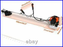 2IN1 42.7CC Straight Shaft Gas Trimmer Two-stroke Engine Weed Eater Lightweight