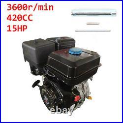 4-Stroke 15HP 420cc Horizontal Shaft OHV Gas Engine Recoil Start Go Kart Motor