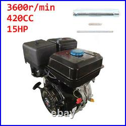 4 Stroke 15HP 420cc OHV Gas Engine Recoil Start Kart Motor Horizontal Shaft USA