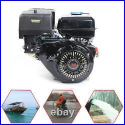 4-Stroke 15HP 420cc OHV Horizontal Shaft Gas Engine Recoil Start Go Kart Motor
