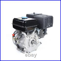 4 Stroke 420cc OHV Horizontal Shaft Gas Engine Recoil Start Kart Motor 15HP NEW