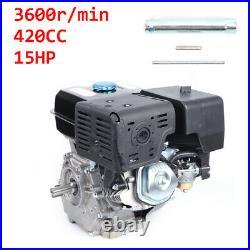 4-stroke 15HP Horizontal Shaft Gas Engine Recoil Start Go Kart Motor Air Cooling