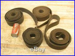 64' Antique Hit & Miss Gas Steam Engine Line Shaft Flat Bet Pulley Leather Belt
