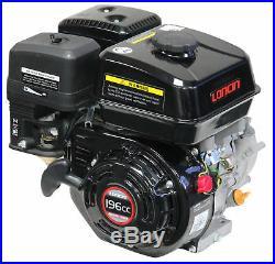 6.5HP 196CC Loncin 4 stroke Gas Small Go Kart Engine Horizontal 3/4 Shaft Motor