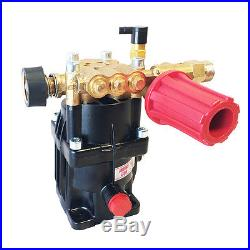 6.5HP Pressure Washer Axial Piston Pump Horizontal For 3/4 Key Shaft Gas Engine