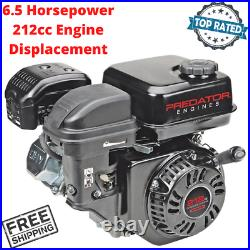 6.5 HP 212cc Gas Engine Replacement Horizontal Shaft For Mower Compressor Blower