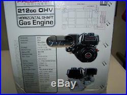 6.5 HP (212cc) OHV Horizontal Shaft Gas Engine EPA Mower Log Splitter Go-Kart