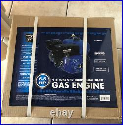 6.5 HP Harbor Freight 4-stroke OHV Horizontal Shaft Gas Engine New In Box