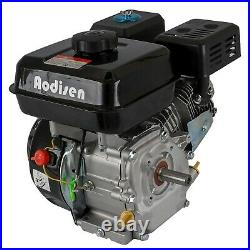 7.5HP 210cc OHV Horizontal Shaft Gas Engine Motor +420 Clutch + Chain for GX160