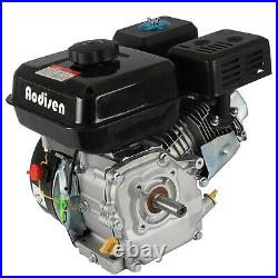 7.5HP 210cc OHV Horizontal Shaft Gas Engine Motor + Clutch Go Kart Log Splitter