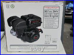 8 HP (301cc) OHV Horizontal Shaft Gas Engine EPA Open Box
