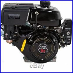 9 HP Equipment Engine, 1 270cc Electric Start Horizontal Keyway Shaft Gas Engine