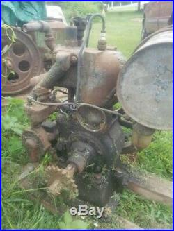 Antique Cushman Gas Engine. 5hp Water Cooled Horizontal Shaft Upright