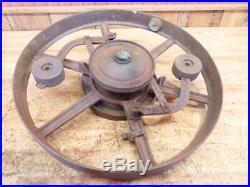 Antique Hit Miss Gas Steam Engine Line Shaft Flat Belt Pulley Case Governor 28