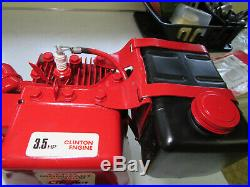 Brand New Old Stock CLINTON 3.5 HP Gas Engine with Horizontal Crank Shaft NICE