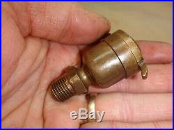 CAM SHAFT OIL CUP for a IHC FAMOUS or TITAN GAS ENGINE Old Brass Oiler