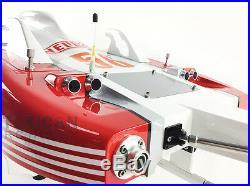 DT G30E 30CC Engine Shaft Cooling Rudder Red Race Fiber Glass Gas RC ARTR Boat