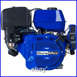 DUROMAX Recoil/Electric Start Engine 420cc 1 in. Shaft 4-Cycle Gas-Powered