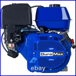 DUROMAX Recoil Start Engine 1 in. Shaft 420cc Portable Gas-Powered 4-Cycle