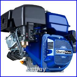 DUROMAX Start Engine Portable 420cc 1 in. Shaft Gas-Powered Recoil/Electric