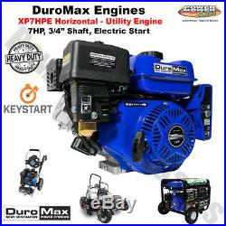 DuroMax Utility Recoil / Electric Start Engine 7 HP, 3/4 Shaft / XP7HPE