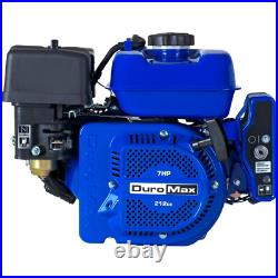 Duromax Portable Gas-Powered Recoil/Electric Start Engine 3/4 in. Shaft 7H. P
