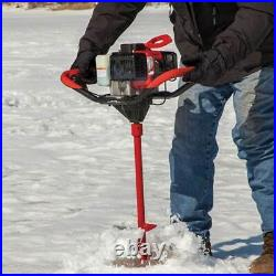 Eskimo S33 Sting Ray 33cc Gas Engine with 8 Inch Quantum Bit Ice Fishing Auger