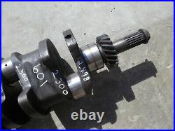 Ford 601 WM tractor Gas engine motor crankshaft crank shaft & drive gear