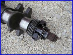 Ford 641 600 tractor Gas engine motor crankshaft crank shaft & gear & balancer