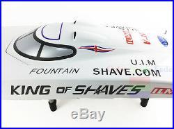 G26IP1 ARTR Gasoline 26CC-Clutch Engine RC Racing Boat Deep-V Shaft Rudder White