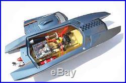 G30K ARTR 30CC Engine FiberGlass Gas RC Racing Boat Shaft Propeller Rudder Grey
