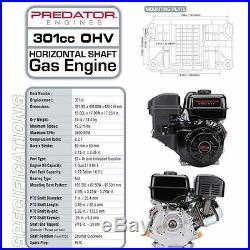 Gas Engine 8 HP 301cc OHV Horizontal Shaft Replacement California EPA Compliant