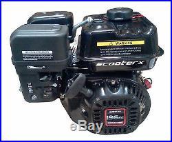 Gas Motor Petrol 196cc 6.5hp 3/4 Shaft Engine EPA Approved Go Kart Wood Chipper