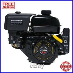 Horizontal Shaft Electric Start Gas Engine 7 HP 3/4 In Auto Decompression