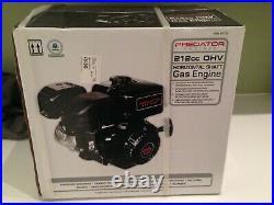 Horizontal Shaft Gas Engine 212cc OHV All Purpose Farm Lawnmower Go-Kart Moped