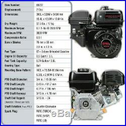 Horizontal Shaft Heavy Duty Predator Gas Engine 6.5 HP Wood Splitter Compressor