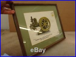 IHC MOGUL SIDE SHAFT ORIGINAL COLOR FRAMED PRINT Old Gas Engine