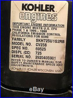 Kohler Command CV25S 25hp Vert. Shaft ENGINE 1 X 3 3/16 Complete