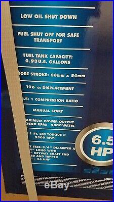 NEW Greyhound 6.5 HP 4-STROKE GAS ENGINE HORIZONTAL SHAFT