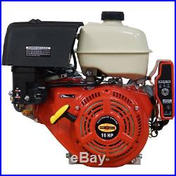 New 16HP Gas Engine Electric Start Side Shaft 16 HP California CARB Approved