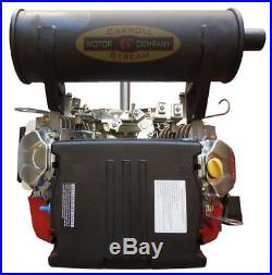 New 20 HP V-twin Gas Engine 614cc Electric Start 1-1/8 Side Shaft Small Motor