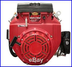 New 20 HP V-twin Gas Engine Electric Start 1-1/8 Side Shaft Small Motor Recoil