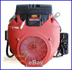 New 20hp V-twin Gas Engine 614cc Electric Start 1 Side Shaft Small Motor Mud