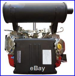 New 20hp V-twin Gas Engine Electric Start 1 Side Shaft Small Motor Recoil 614cc