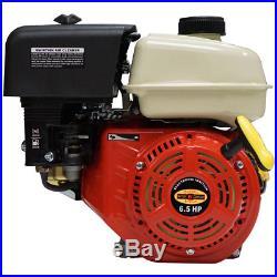 New 6.5HP Small Gas Engine Go Kart Log Splitter Mini Bike Side Shaft 6.5 HP