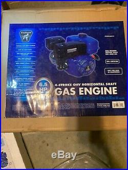 New 6.5 HP (196cc) OHV Horizontal Shaft Gas Engine 66015 Greyhound 4Go Cart Etc